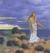Pierre Puvis de Chavannes Woman on the Beach oil painting picture wholesale
